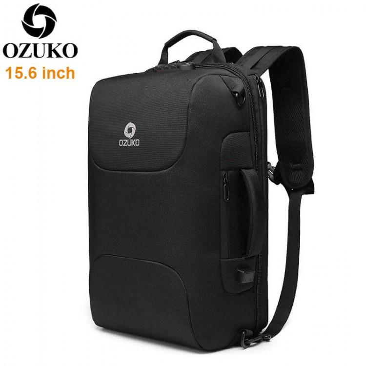 Деловой рюкзак Ozuko Ninja с кодовым замком, USB-портом и отделением для ноутбука 15.6
