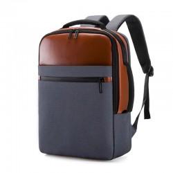 Рюкзак Atlas B0022 Серо-коричневый с USB-портом и отделением для ноутбука 15.6