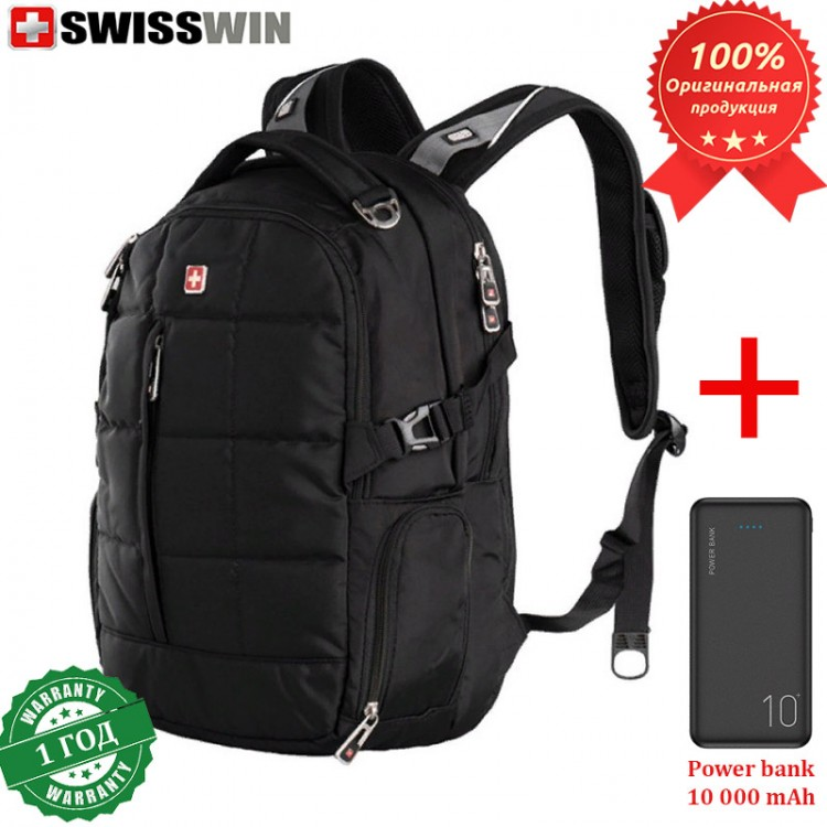 Рюкзак Swisswin ET8003 для ноутбука 15.6 + Power bank 10 000 mAh