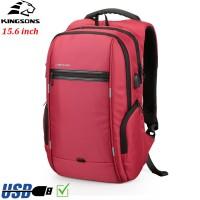 Рюкзак Kingsons KS3140W Красный с USB-портом