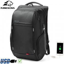 Рюкзак Kingsons KS3140W Чёрный с USB-портом