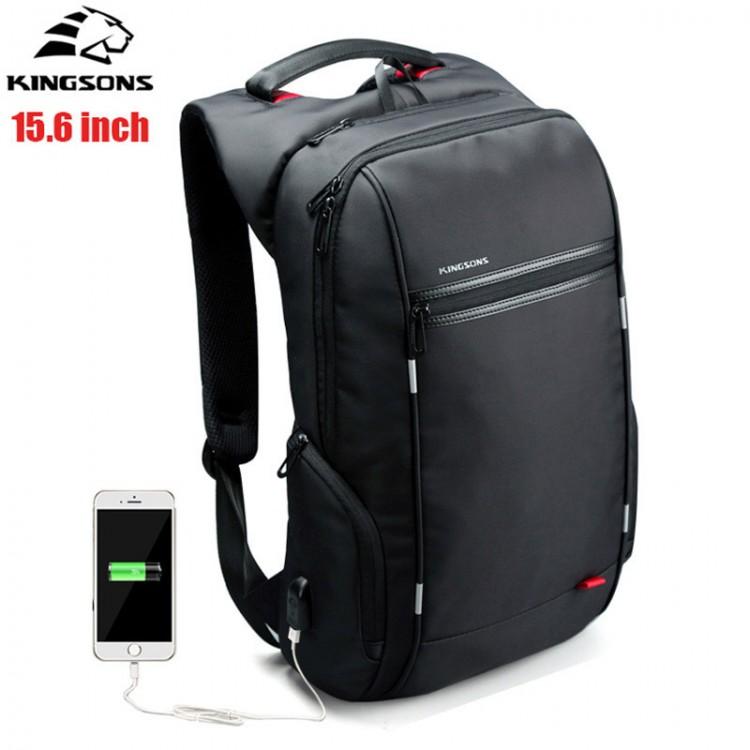 Рюкзак Kingsons KS3144W Чёрный с USB-портом