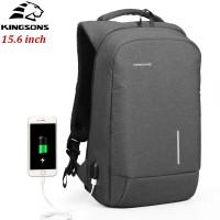 Рюкзак Kingsons KS3149W Тёмно-серый с USB-портом и отделением для ноутбука 15.6