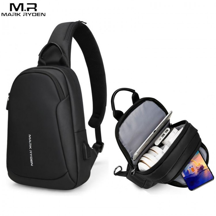 Сумка Mark Ryden MR7191 Чёрная с USB-портом