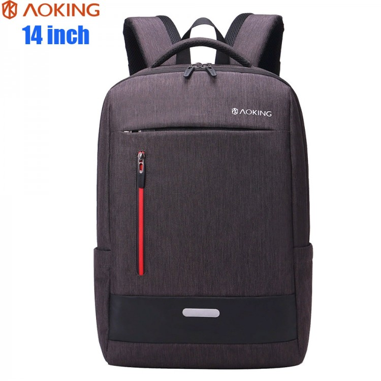 Рюкзак AOKING SN67990 Коричневый с отделением для ноутбука 14 дюймов