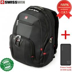 Рюкзак Swisswin SW0809 для ноутбука 15.6 + Power bank 10 000 mAh