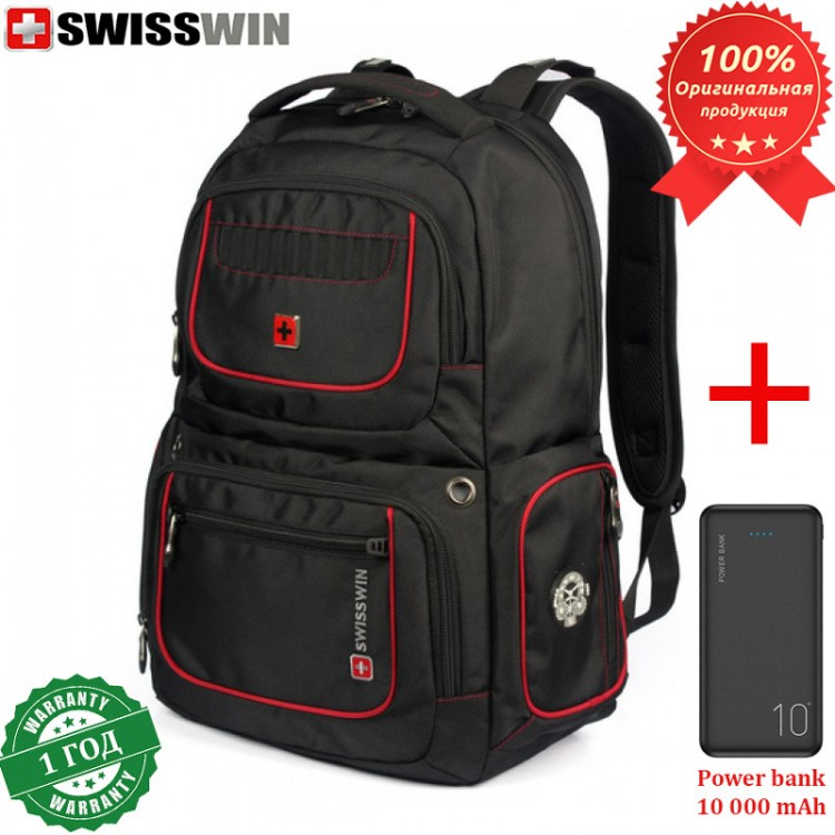 Рюкзак Swisswin SW6013V для ноутбука 17.3 + Power bank 10 000 mAh