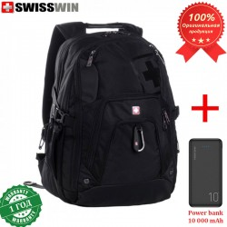 Рюкзак Swisswin SW8521 для ноутбука 15.6 + Power bank 10 000 mAh