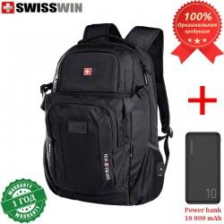 Рюкзак Swisswin SW9101 для ноутбука 15.6 + Power bank 10 000 mAh
