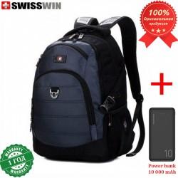 Рюкзак Swisswin SW9205 Синий для ноутбука 15.6 + Power bank 10 000 mAh