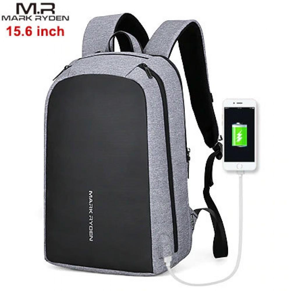 Рюкзак Mark Ryden MR6971 Серый с USB-портом и отделением для ноутбука 15.6