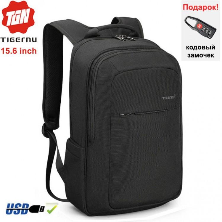 Рюкзак Tigernu T-B3090B Чёрный с USB-портом