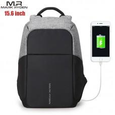 Рюкзак Mark Ryden MR5815zs Серый с USB-портом и отделением для ноутбука 15.6