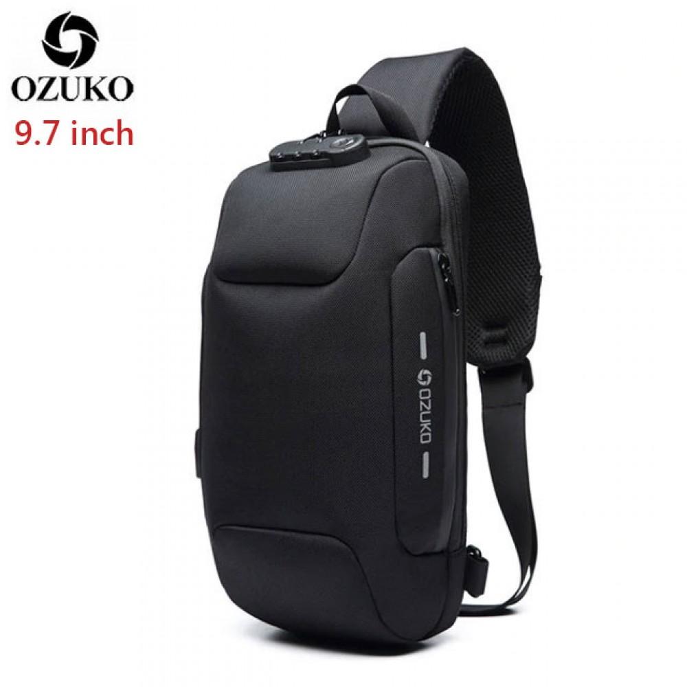 Однолямочный рюкзак Ozuko O-0118 с USB-портом