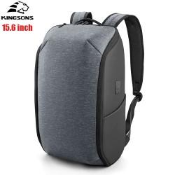 Рюкзак Kingsons KS3203W-B Серый с USB-портом и отделением для ноутбука 15.6