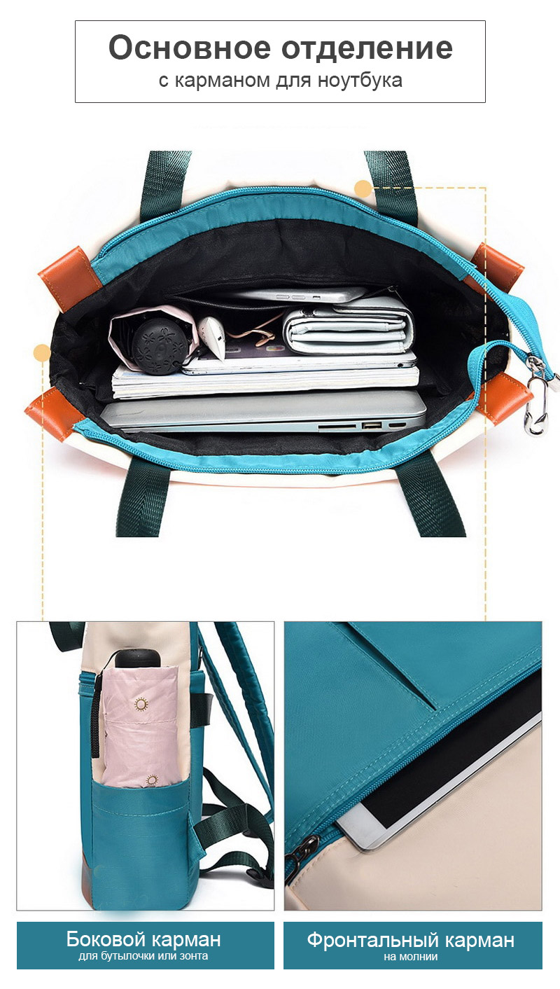 Женский рюкзак Funmardi B2066 Бело-синий