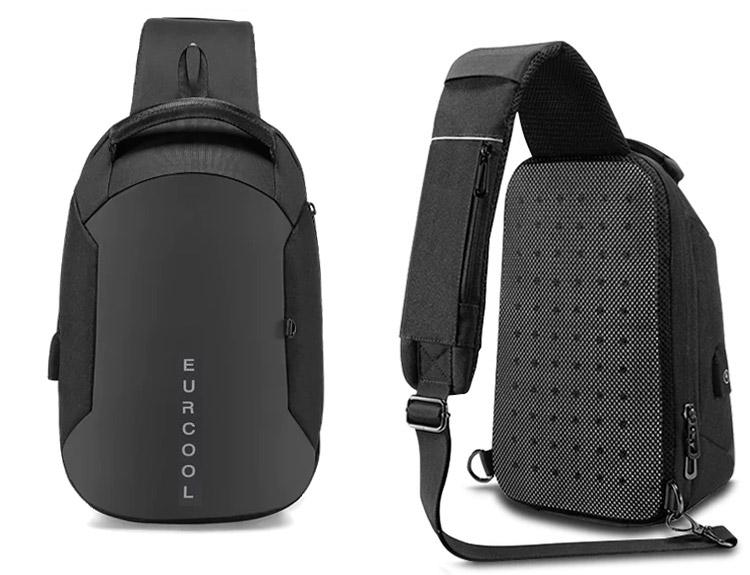 Однолямочный рюкзак EuroCool EC-1825-S Чёрный