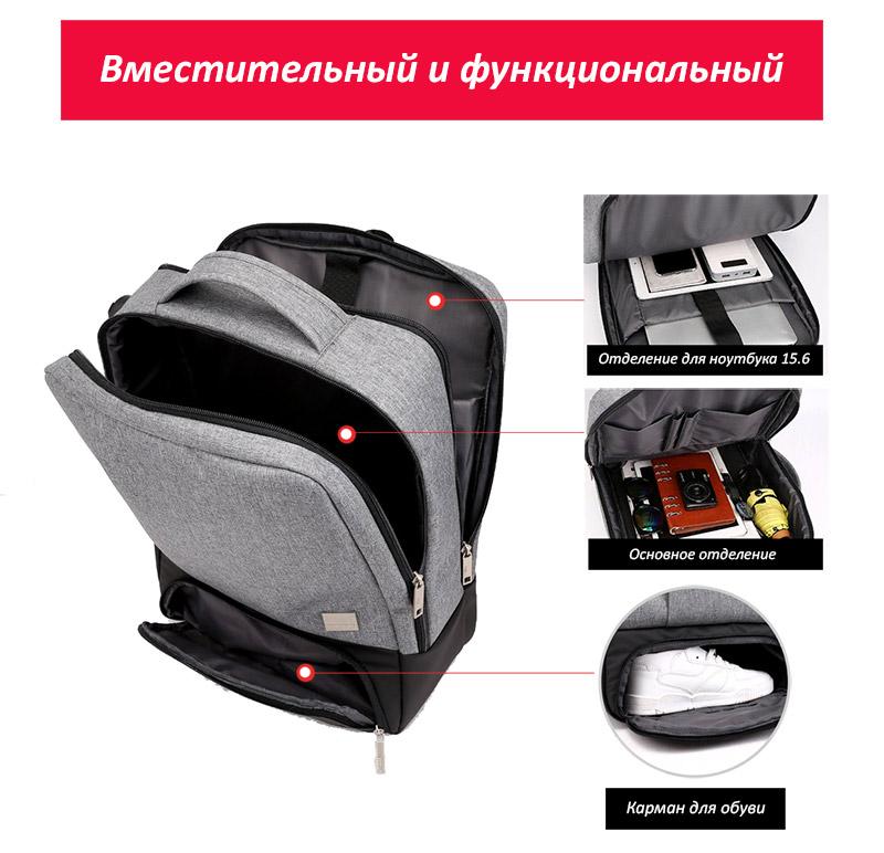 Рюкзак Feesly Серый