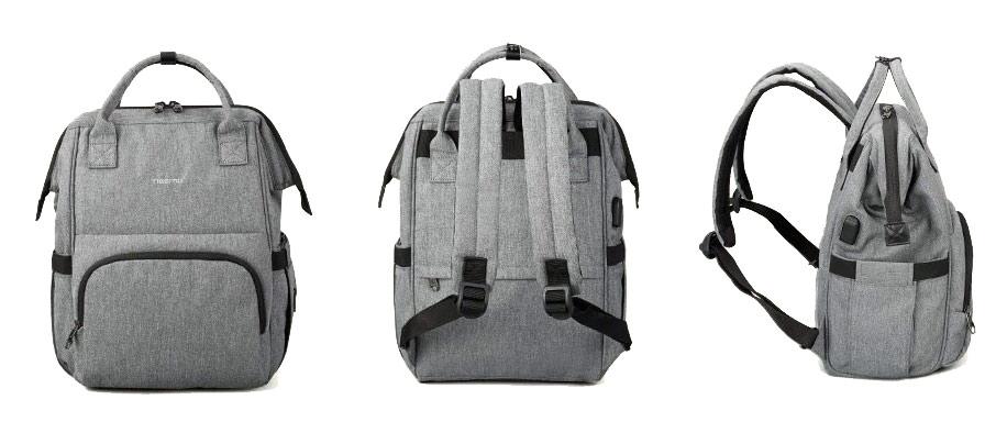 Рюкзак для мамы Tigernu T-B3358 Серый Grey