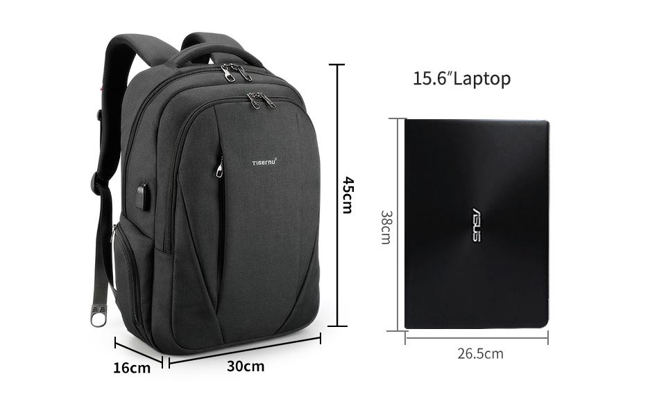 Рюкзак Tigernu T-B3399 Тёмно-серый