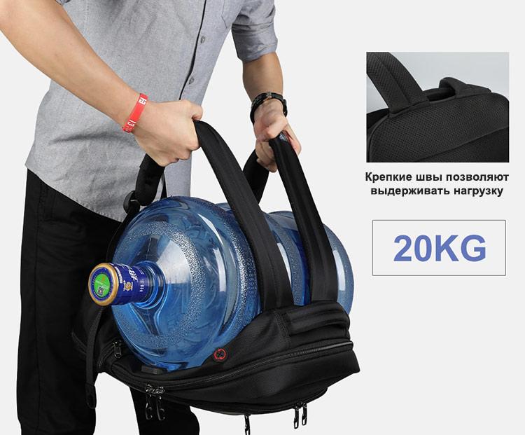Рюкзак Tigernu T-B3668 Чёрный